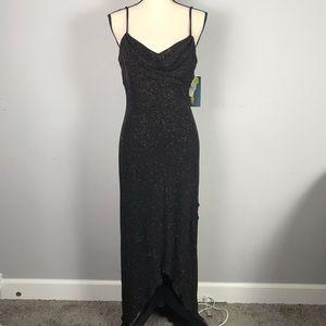 NWT Ruby Rox vintage Shimmer hi low maxi dress